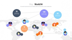 世界地图二维透视效果 圆点图案