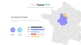法国各区域精细划分矢量地图