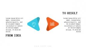 2个创意三角箭头反向对比
