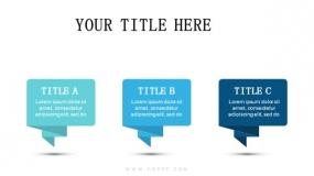 3个蓝色系折纸对话框效果