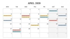 2020年4月份工作待办安排PPT设计