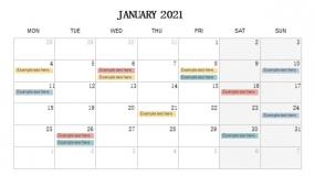 2021年1月份新年计划PPT设计