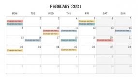 2021年2月份重点事项 工作安排PPT设计