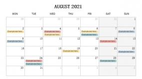 2021年8月份部门重要待办PPT设计