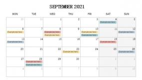 2021年9月份重点事项 工作安排PPT设计