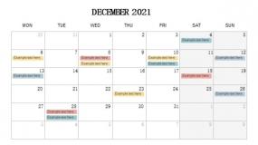 2021年12月份重点事项 工作安排PPT设计