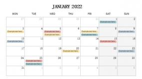 2022年1月份工作进度规划PPT设计