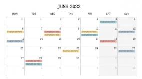2022年6月份营销大事记PPT设计