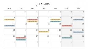 2022年7月份工作进度规划PPT设计