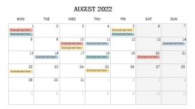 2022年8月份大事件PPT设计
