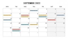 2022年9月份工作进度规划PPT设计