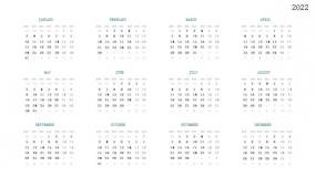 2022年日历挂历 全年月份PPT设计
