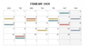 2020年2月份工作待办安排PPT设计