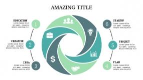 6个高端设计PPT图表 工业设计风格