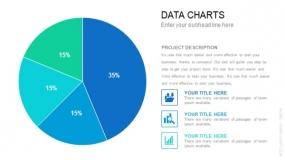 圆形大饼图 数据图表PPT素材