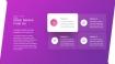 魅力紫色工作汇报PPT图表下载(2)