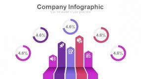 魅力紫色工作汇报PPT图表下载(307)