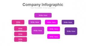 魅力紫色工作汇报PPT图表下载(201)